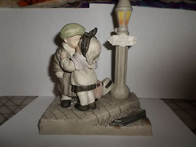 Kim Anderson We've Only Just Begun Figurine Couple Kissing At Train Station!
