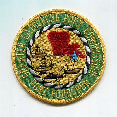 Greater Lafourche Port Commission Patch /// Louisiana Police /// Port Fourchon