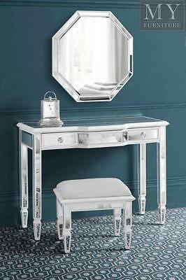 Leonore Mirrored & White Painted Console Dresser