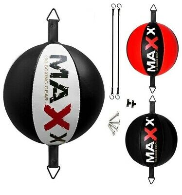 Maxx Leather Double End Dodge Speed Ball MMA Boxing Floor to Ceiling Punch Bag