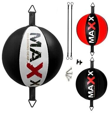 Maxx Leather  Speed Ball MMA Boxing Floor to Ceiling Punch Hook DB