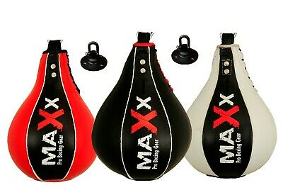 Maxx Leather Speed Ball & Swivel Boxing Punch Bag Punching Training Speedball sp