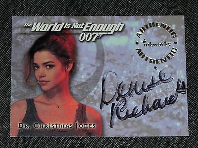 1999 Denise Richards Inkworks Authentic Autograph Card The World Is Not Enough
