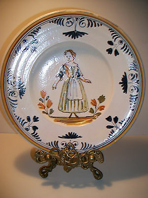Quimper Style French Peasant Plate