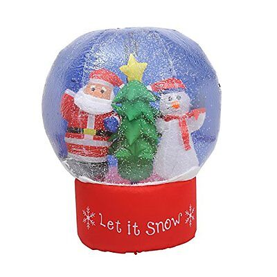 Christmas Santa and Snowman Inflatable Snow Globe - 3.6 foot high