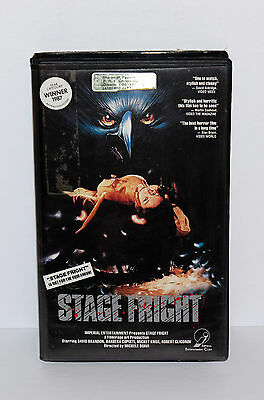 STAGE FRIGHT Horror VHS Clamshell 1987 Imperial Michele Soavi HTF