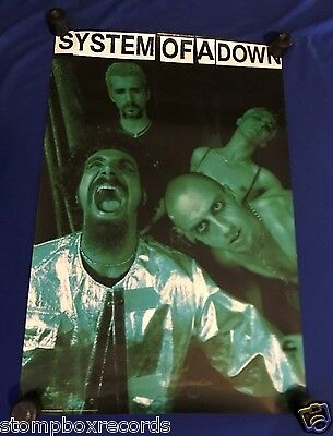 vintage 1998 System of a Down ST PROMO POSTER NR MINT UNUSED 23x36in