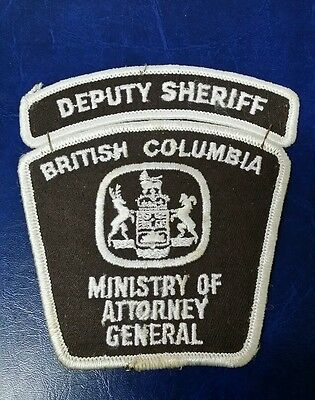 Briitish Columbia, Canada Deputy Sheriff Ministry Of Attorney General Patch