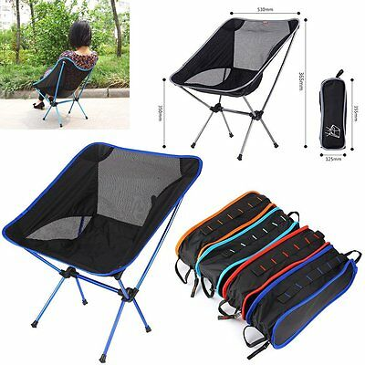 Ultra-Lightweight Camping Chair Collapsible Folding Aluminium Seat For Outdoor