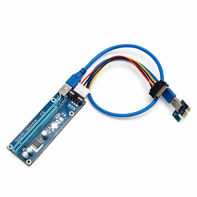 USB 3.0 PCI-E Express Powered Riser Card W/ Extender Cable 1x to 16x Monero