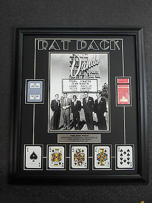 RAT PACK The Sands Casino Cards FRANK SINATRA custom frame un signed
