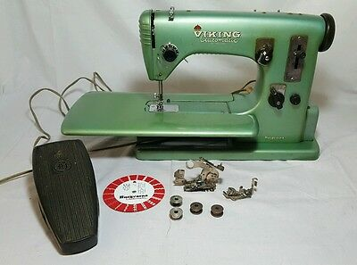 Vintage Industrial Husqvarna Viking Automatic Sewing Machine 21 Made In Sweden