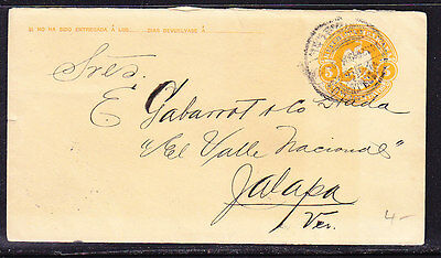 Mexico 1906 Embossed - 5c Orange Addressed