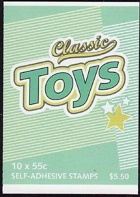 2009 AUSTRALIAN STAMP BOOKLET CLASSIC TOYS 10 x 55c STAMPS MUH