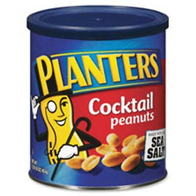 Kraft Foods KRFGEN07210 Cocktail Peanuts, Sea Salt, 16 oz. Can