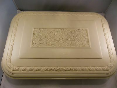 Vintage 1930s/40s Ornate Floral Molded Plastic Silverware Flatware Chest