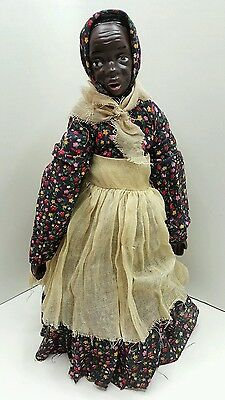 Vtg Soulful Black Americana Mammy doll Porcelain Shoulder Head, Hands and Feet