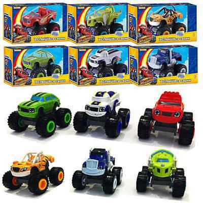6Pcs Blaze and the Monster Machines Vehicles Plastic Toys Racer Cars Trucks Kid
