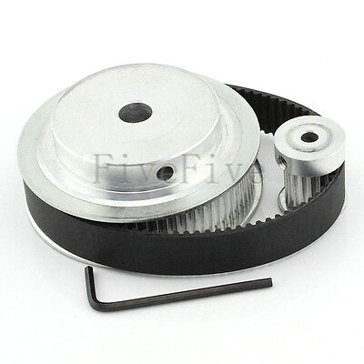 HTD 3M 72/18 Teeth Timing Pulley Belt Width 15mm Set Kit Reduction Ratio 4:1