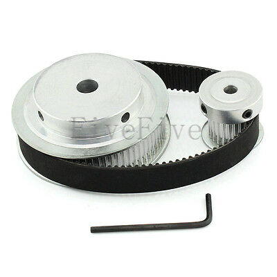 HTD 3M 72/24 Teeth Timing Pulley Belt Width 15mm Set Kit Reduction Ratio 3:1