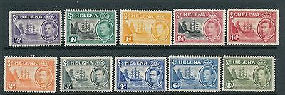St Helena 1938 Definitives 10 values mm