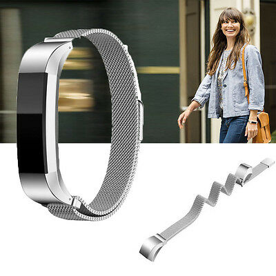 Silver Fitbit Alta Milanese Stainless Steel Accessory Watch Band Strap Wristband