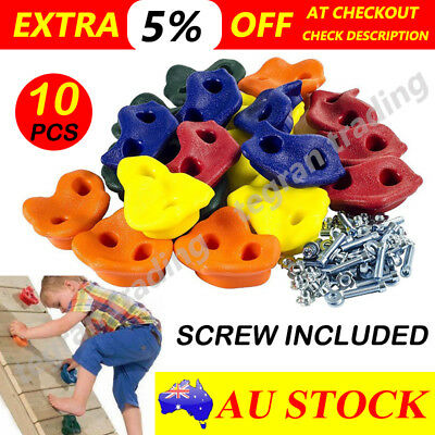 10x Textured Climbing Rock Wall Stones Holds Hand Feet Kids Assorted Kit Gift AU