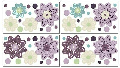 NoJo Plum Dandy Wall Decals Self Stick Adhesive Purple Removable Baby Room Dorm
