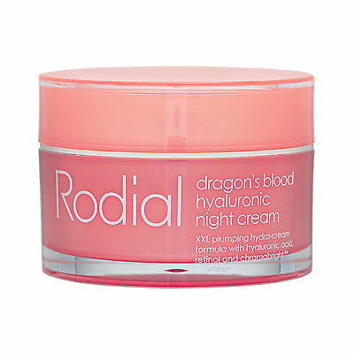 Rodial Dragon's Blood Hyaluronic Night Cream 1.7oz,50ml Skincare Smooth Wrinkle