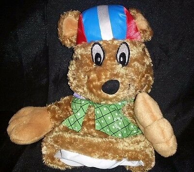 "St Judes Bikewell Bear Puppet Plush 10"" Stuffed Bicycle Rider Helmet Toy"
