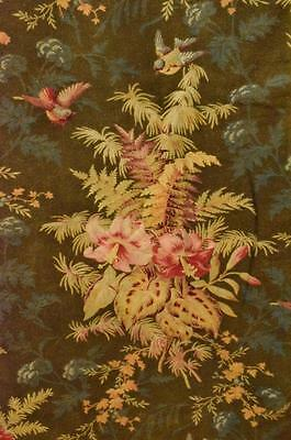 Fantastic Large Antique French Floral Cretonne Throw / Curtain / Panel C 1850