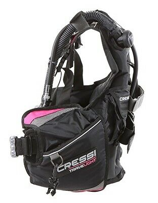 Cressi Travelight BCD Pink Scuba Diving Integrated Weight Pockets Travel Size S