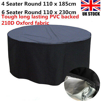 Deluxe Heavy Duty 4/6 Seater Round Table Waterproof Garden Furniture Cover