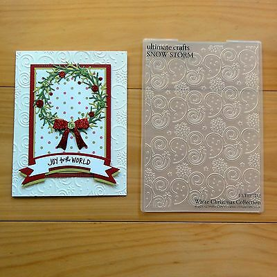 """ULTIMATE CRAFTS CHRISTMAS 5""""x7"""" EMBOSSING FOLDER SNOW STORM """"IMPERFECT"""" - BNIP"""