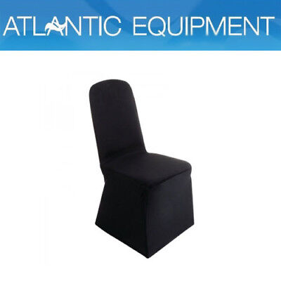 Bolero Banquet Chair Poly Jersey Covers (Black) -DP923