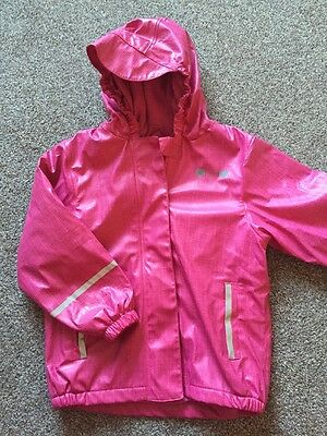 Gorgeous Girls Pink Showerproof Jacket Coat Age 4-6 Years By Lupilu