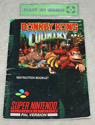 Donkey Kong Country SNES Manual only NO GAME Instruction booklet Super Nintendo