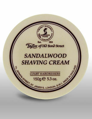 Taylor Of Old Bond Street Sandalwood Shaving Cream 150g Bowl - 01001