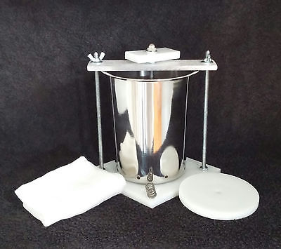 "Stainless Steel 4""  Spring Assisted Organic Cheese Press * Free Shipping"