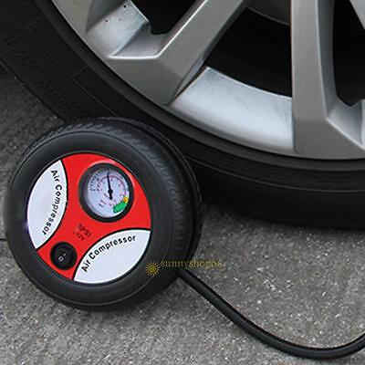 Portable Automobile Car Tire Air Compressor Pump Ring Rubber Boat Sport Ball New