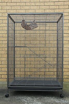 140 cm 3 Levels Bird Parrot Cage Aviary Ferret Cat Budgie Hamster House W Castor