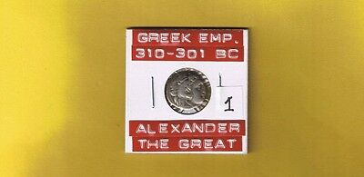 "Ancient Macedon Greek Empire ""Alexander The Great"" 310-301 BC, Silver AR Drachm"