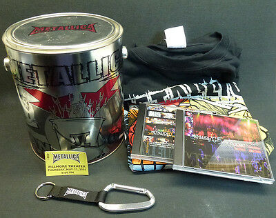 Metallica Fan Can #5 Club Exclusive Metal Boxed Set Complete w/ T-Shirt DVD & CD