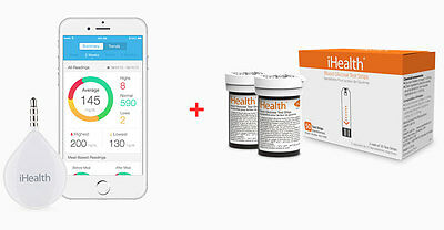iHealth BG1 Align Glucose Monitor with Test Strips