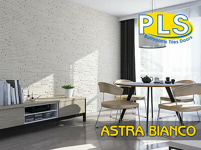 Astra Bianco Decorative Stone Wall Brick Panel 3D Cladding Tiles / PLS