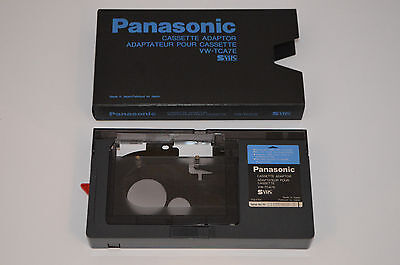 PANASONIC Cassette Adaptor VW-TCA7E Camcorder VHS-C/S-VHS-C to VHS Adapter svhs