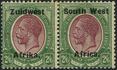 South Africa SG 28 1924 2/6d purple and green. Mint. Cat £90