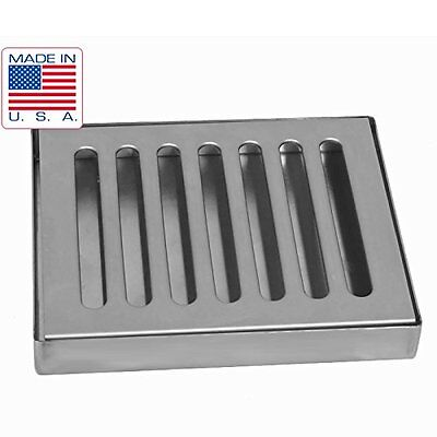 "6"" X 5"" Stainless Steel Draft Beer Drip Tray , Kegerator, Countertop, Surface -"