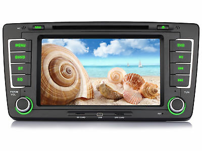 "7"" HD 3G DVD Autoradio GPS RDS MP3 Navigation Bluetooth für SKODA OCTAVIA 2013"