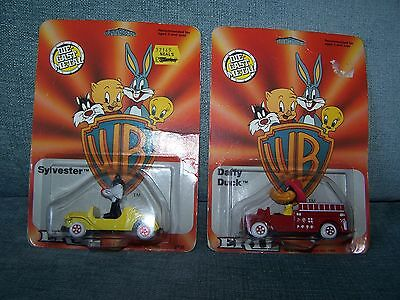 ERTL-Two Warner Bros. Cars-Daffy Duck and Sylvester